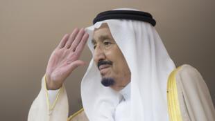 Le roi Salman d'Arabie saoudite, en mai 2017 au palais royal de Riyad.