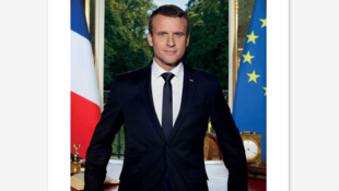 Official Portrit of French President Emmanuel Macron