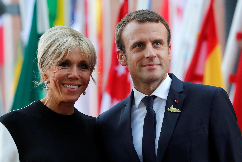 法國總統馬克龍伉儷   2017年7月7日德國漢堡