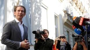 奥地利前总理库尔茨(Sebastian Kurz)领导的人民党成为奥地利周日国会选举大赢家 2019年9月29日
