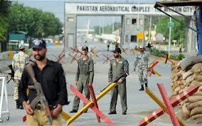 Wanajeshi wakilinda kambi ya kijeshi jijini  Islamabad