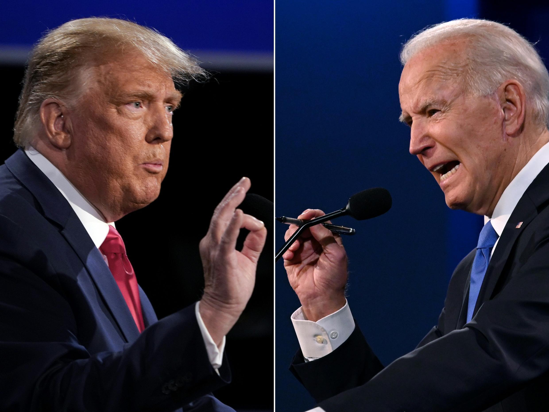 Donald Trump e Joe Biden disputam a Presidência norte-americana.