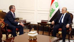 Sakataren tsaron Amurka  Ashton Carter da Firaministan Iraqi Haider al-Abadi