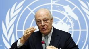 Đặc phái viên Liên Hiệp Quốc về Syria Staffan de Mistura.