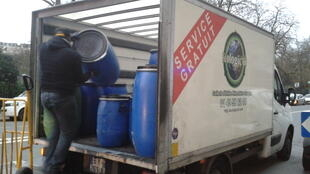Ecologic'Oil trucks go through Paris every day collecting used cooking oil