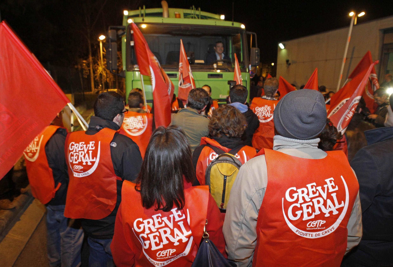 A greve geral em Portugal desta quarta-feira.