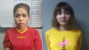 A indonésia Siti Asia e a vietnamita Đoan Thi Huong foram indiciadas nesta quarta-feira, 1° de março de 2017, pelo assassinato de Kim Jong-nam.