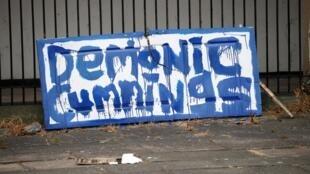 Dominic Cummings, conseiller spécial de Boris Johnson, est au centre d'une polémique pour ne pas avoir respecté le confinement. Liverpool, le 26 mai 2020.