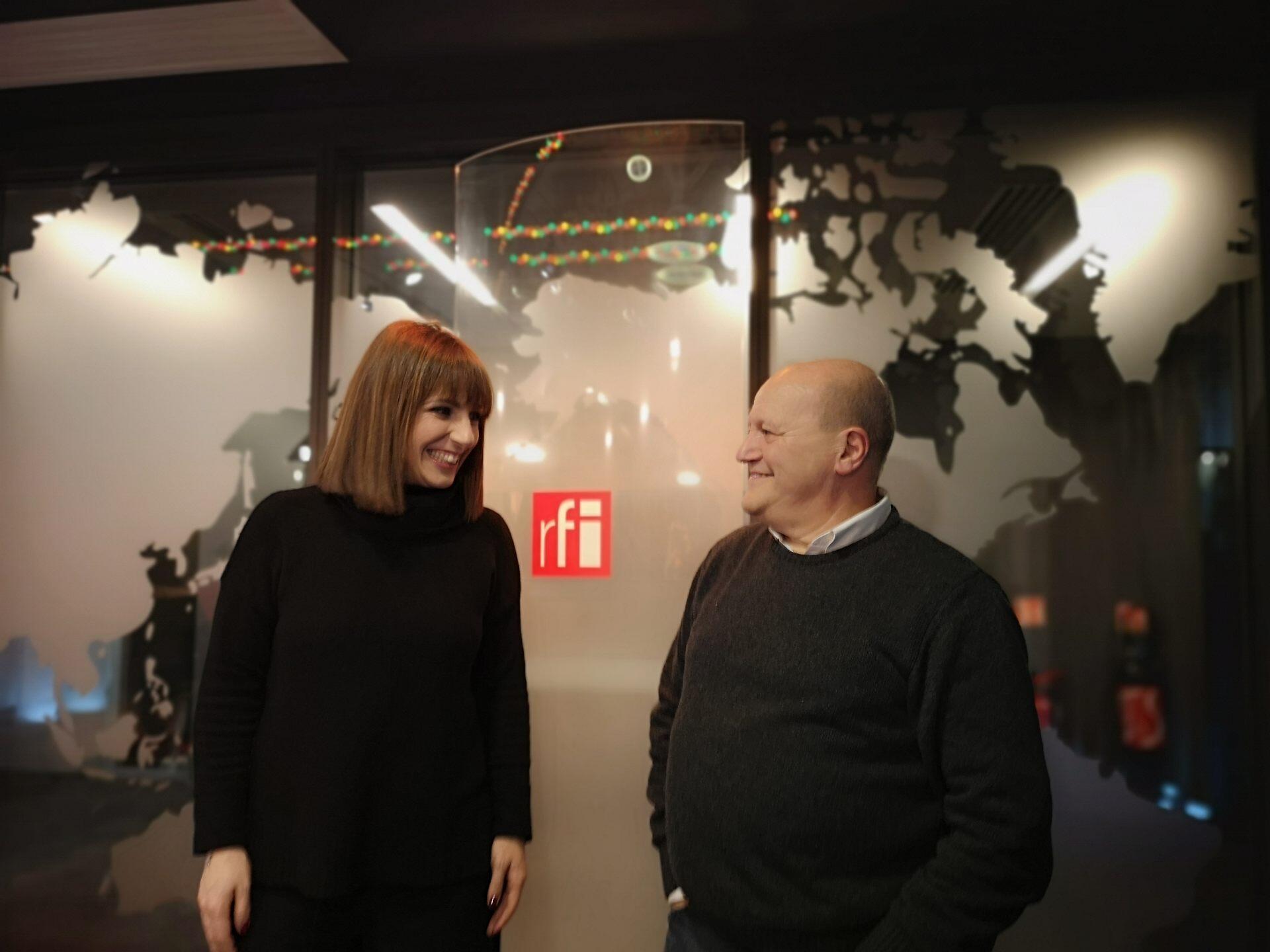 Katia Guerreiro nos estúdios da RFI