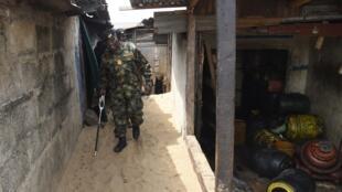 L'armée nigériane sur le site des expulsions à Tarkwa Bay. Ici, l'amiral Oladele Daji, le 23 janvier 2020.