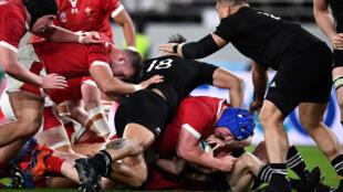 La Nouvelle-Zélande termine 3ème de la Coupe du monde de rugby contre le Pays de Galles, le 1er novembre 2019.