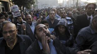 埃及反对派12月17日在开罗示威