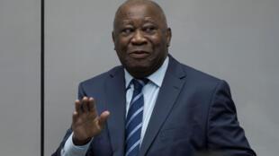 Cựu tổng thống Cote d'Ivoire Laurent Gbagbo tại Tòa Án Hình Sự Quốc Tế CPI, La Haye, ngày 15/01/2019