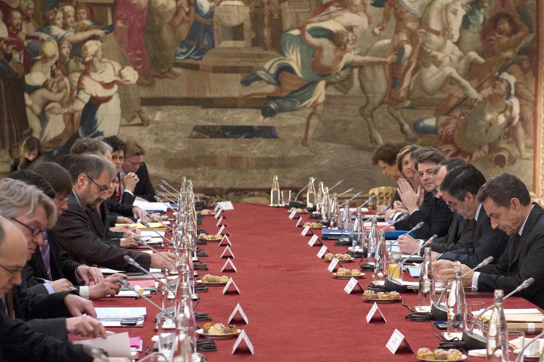 « Sommet de crise » à l'Elysée ce mercredi 18 janvier 2012.