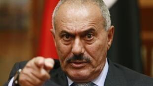 Rais wa Yemeni Ali Abdallah Saleh arejea  Sanaa,septemba 23. 2011.