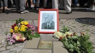 Stone memorial in Berlin