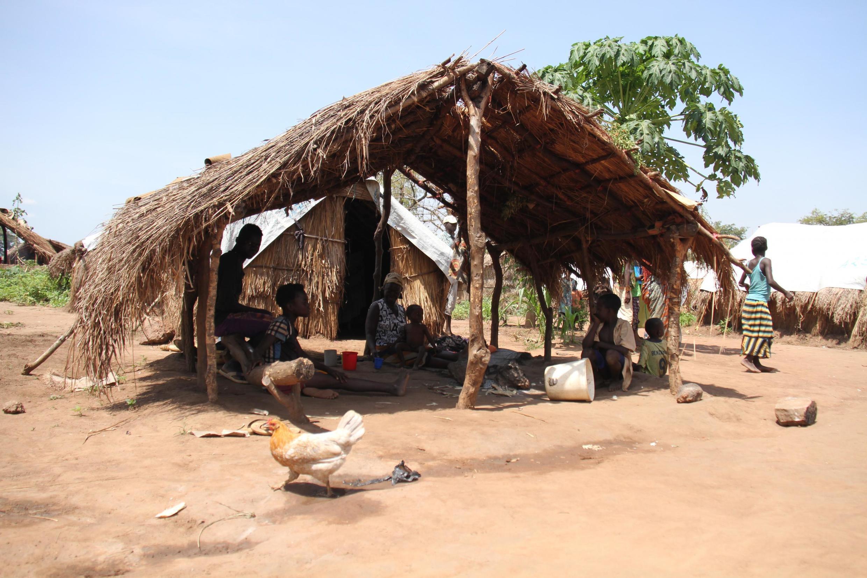 Dans un camp de déplacés internes, à Kaga Bandoro, le 7 novembre 2018. En Centrafrique, plus de la moitié de la population dépend de l'aide humanitaire d'urgence.