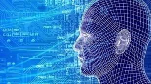 图为网络关于脸部识别新科技图片