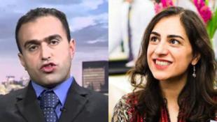 ارس امیری، دانشجوی ایرانی دانشگاه کینگستون انگلستان و ماهان عابدین، تحلیلگر سیاسی-امنیتی در یک مرکز مطالعاتی در انگلستان