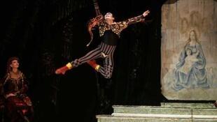 Foto de archivo del teatro Bolshoi.
