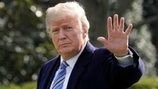 O presidente Donald Trump na Casa Branca