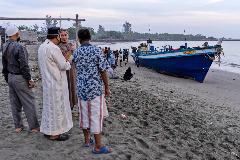 300 réfugiés rohingyas sont arrivés par bateau en Indonésie, ce 7 septembre 2020.