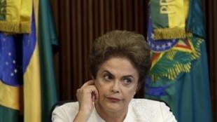 Dilma Rousseff à Brasilia, le 4 mars 2016.