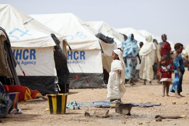 Un camp de réfugiés maliens au Burkina Faso en janvier 2013.