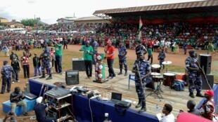 Agathon Rwasa et son parti le CNL sont en campagne électorale à Ngozi, le 27 avril 2020 (illustration)