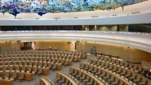 La salle du Conseil des droits de l'homme de l'ONU, à Genève.