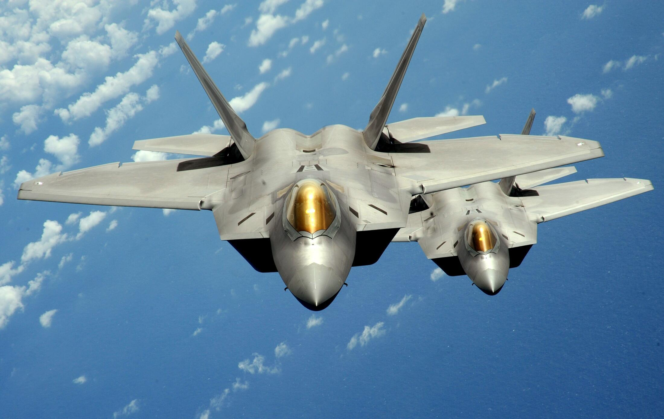 F-22 một trong những loại chiến đấu cơ tối tân nhất không quân Mỹ được dự kiến triển khai tại Châu Âu. (Ảnh chụp ngày 04/08/2010)
