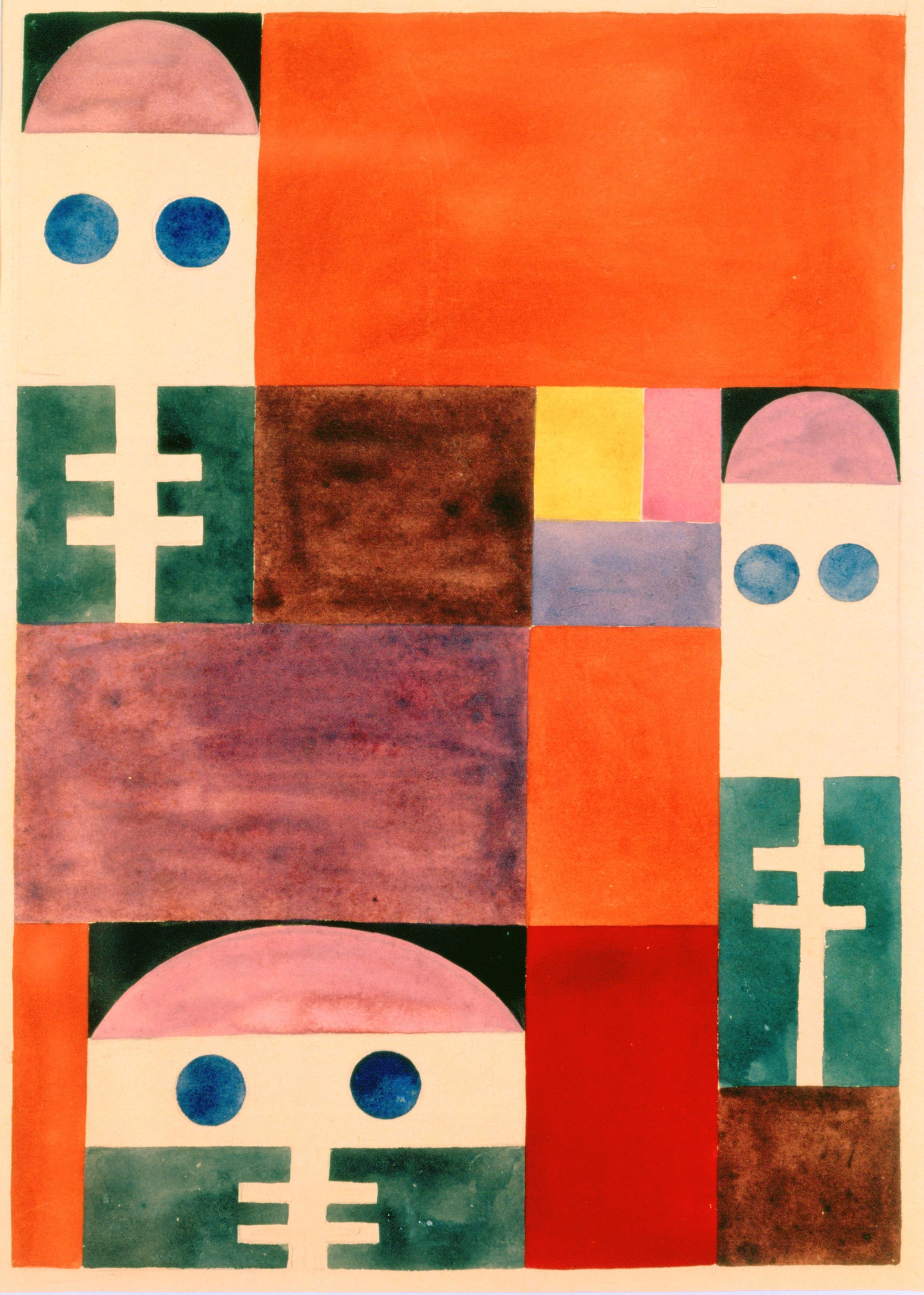 Sophie Taeuber-Arp, Motifs abstraits (masques), 1917