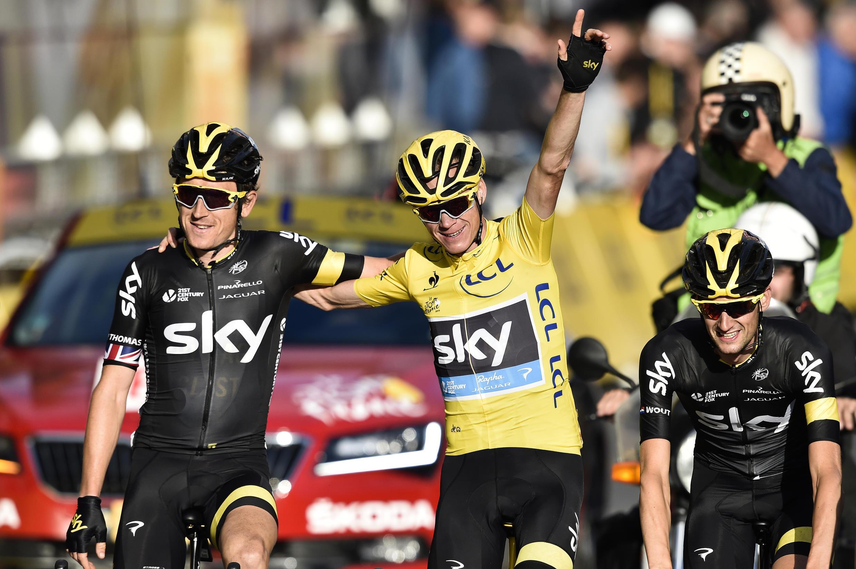 Le Britannique Christopher Froome, le 26 juillet, lors de la 21e et dernière étape du Tour de France 2015.