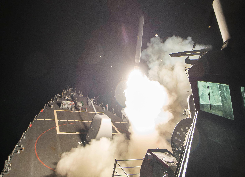 Makamin USS Ross a Méditerranée da Amurka ta kai hari da shi Syria
