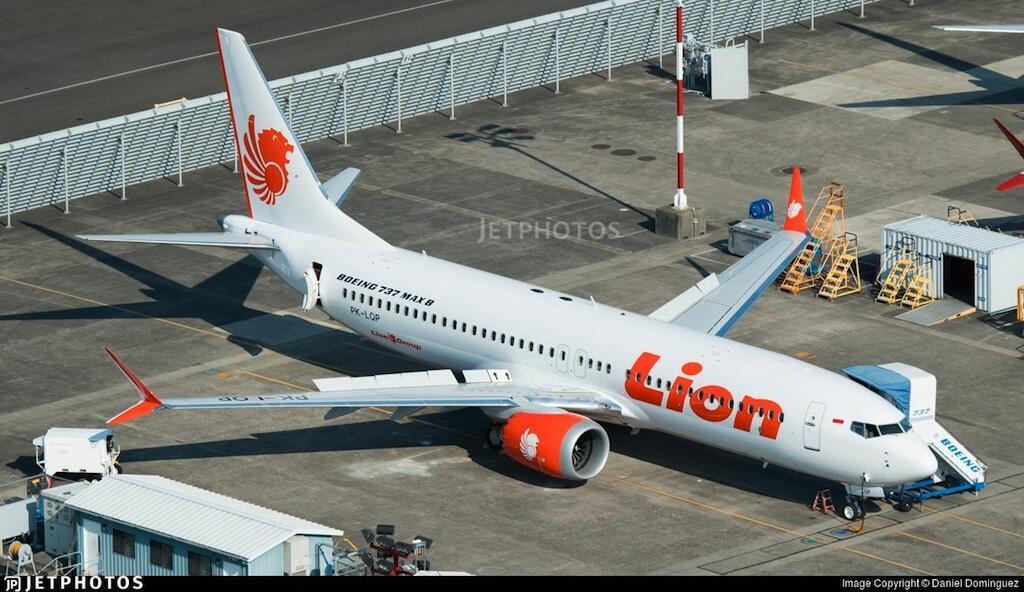Uno de los aviones de Lion Air, Indonesia.