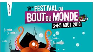 L'affiche du Festival du bout du monde à Crozon en Bretagne