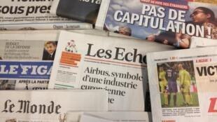 Primeiras páginas diários franceses 19/3/2013