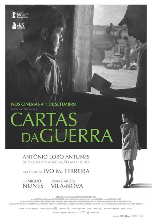 """Cartaz da estreia portuguesa do filme """"Cartas da guerra"""", agora também nos cinemas franceses."""