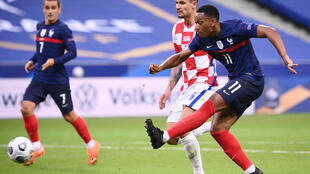 Les Bleus d'Anthony Martial (N.11) et Antoine Griezmann ont dominé la Croatie en Ligue des Nations, le 8 septembre 2020 au Stade de France