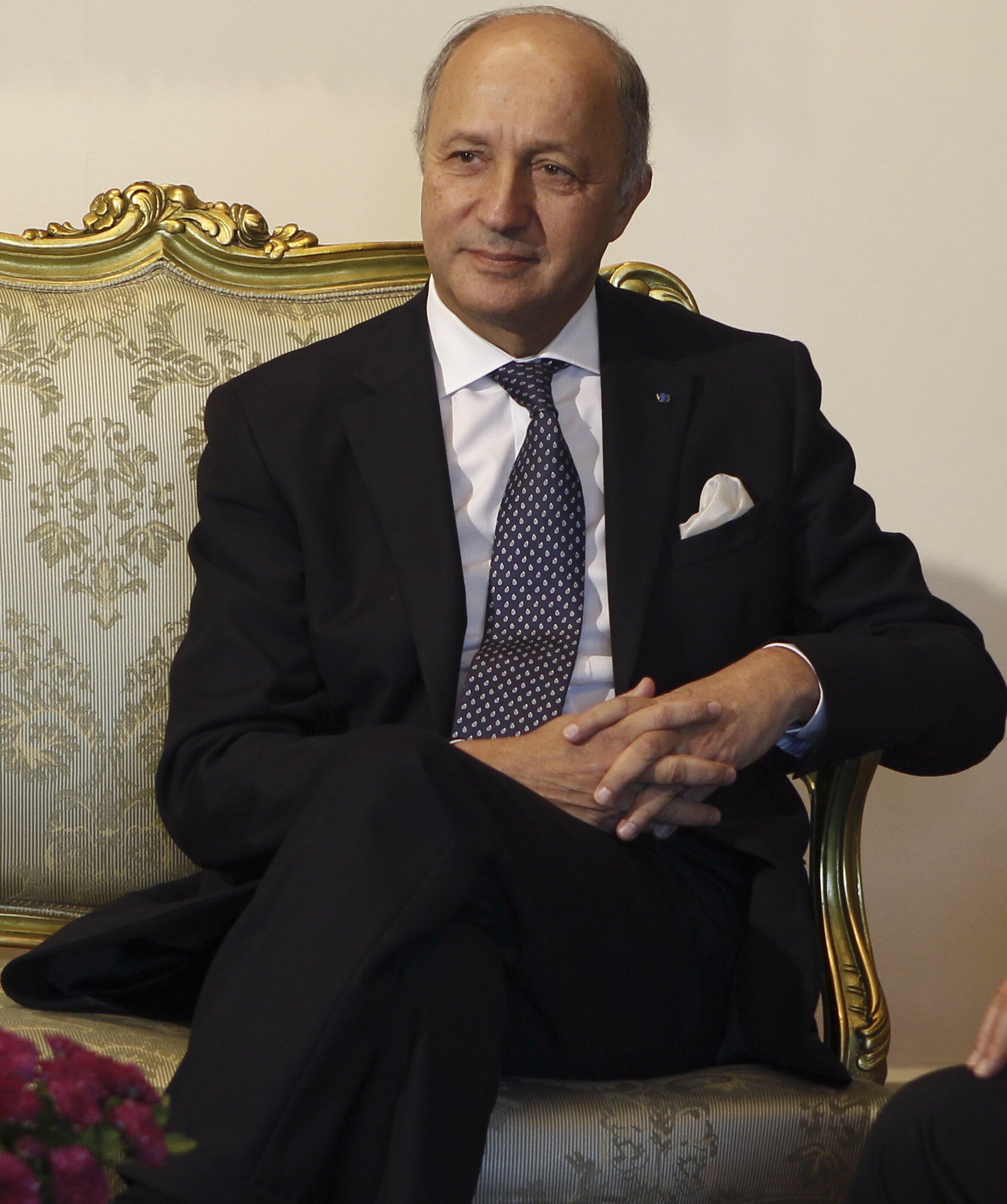 O ministro francês das Relações Exteriores, Laurent Fabius