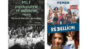 Couvertures « MLF, psychanalyse et politique » et « Rébellion ».