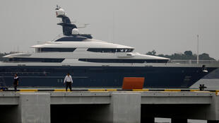 Ce luxueux yacht, saisi et amarré au port de Klang de Kuala Lumpur, fait partie des biens achetés avec les fonds 1MDB.
