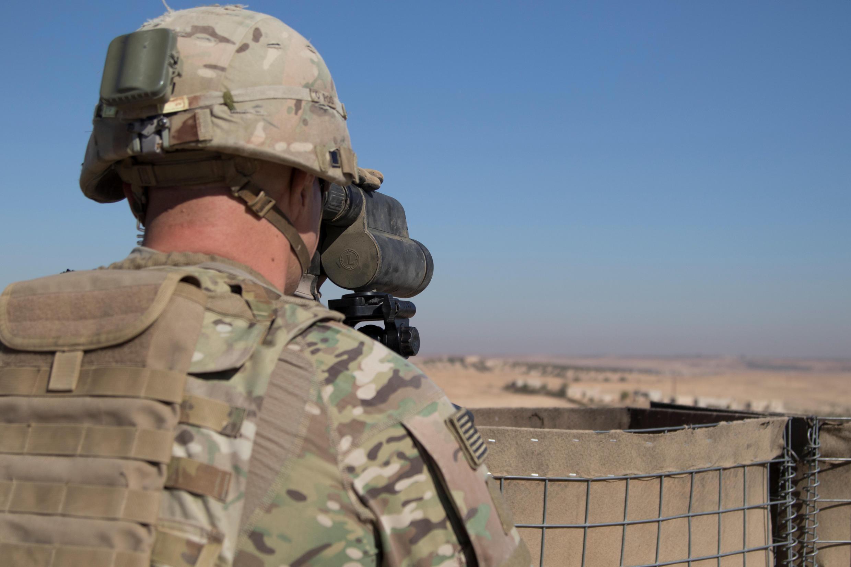 Un soldat américain dans la région de Manbij en Syrie, le 1er novembre 2018.