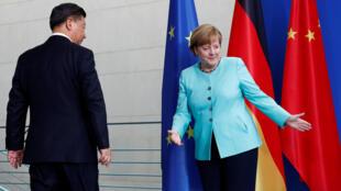 G20東道國德國總理默克爾5日與前來與會的中國國家主席習近平剛剛開完記者會。