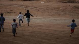 Le camp de réfugiés de Domiz, près de Dohuk dans la région du Kurdistan irakien où vivent des milliers de réfugiés syriens.