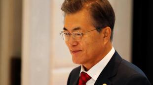 韓國總統文在寅近照