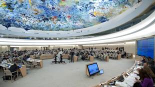 Một buổi họp của Hội đồng Nhân quyền Liên Hiệp Quốc.
