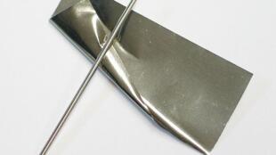 Le rhodium un des métaux précieux les plus rares.