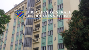 Capture d'écran du site la Direction générale des douanes et accises de la RDC.