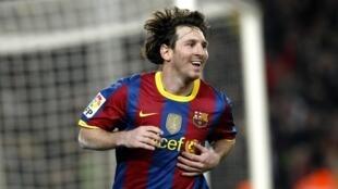 Lionel Messi (FC Barcelone).